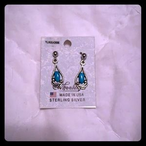 Earrings- turquoise and silver